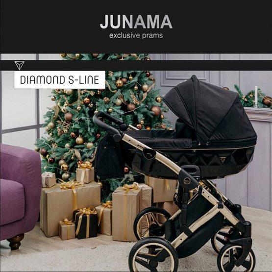 Carucior Junama Diamond S-Line Gold Black 3in1