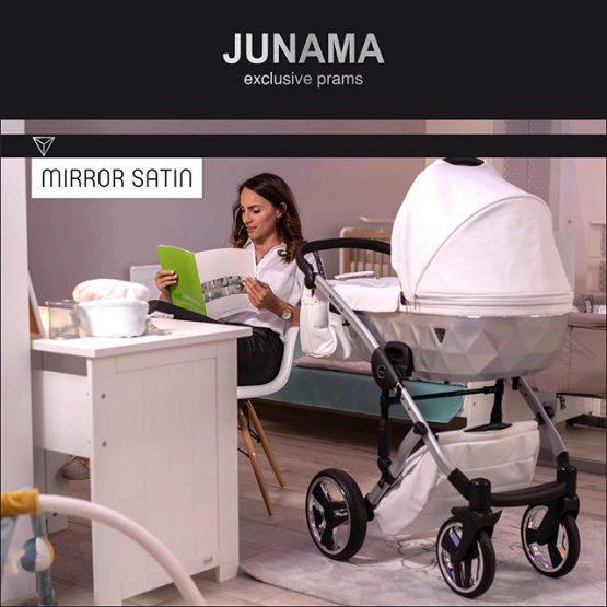 Carucior Junama Mirror Satin Silver White 3in1