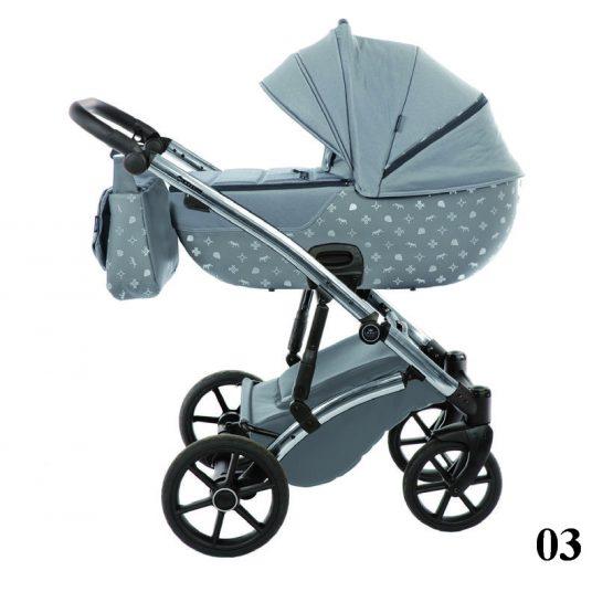 Carucior 3 in 1 Tako Baby LARET IMPERIAL Grey