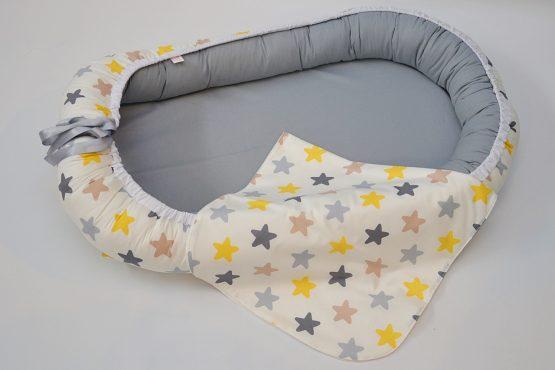 Baby Nest Stelute Gry Reversibil – TinyTotsBebe