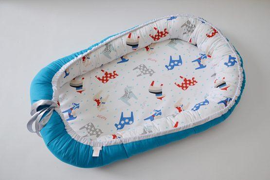 Baby Nest Poney Blue TinyTotsBebe