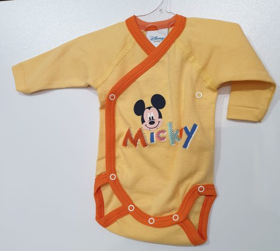 Body bebe NN ML Mickey Mouse galben
